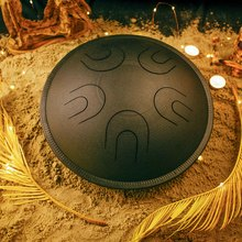 Глюкофон МИРА  Черная жемчужина (аналог Ханг драм, Hapi Drum, Happy Drum Hang) Aeolian 36 см  10 нот