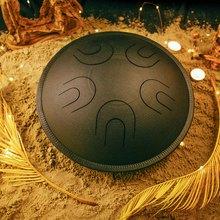 Глюкофон МИРА  Черная жемчужина (аналог Ханг драм, Hapi Drum, Happy Drum Hang) Natural minor 36 см 10 нот