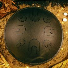 Глюкофон АТЛАНТ Черная жемчужина (аналог Ханг драм, Hapi , Happy Drum Hang) Natural Minor 46 см  16 нот