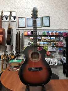 (4614) Гитара Акустическая 7-ми струнная Трембита как Новая