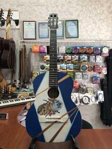 (4347) Гитара Классическая с Росписью «Козак Патриот»