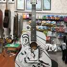 (2476) Гитара с Росписью «Маска Zero» Новые Колки и Струны