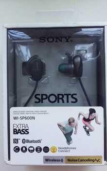 Беспроводные Наушники С Микрофоном Sony WI-SP600N Black