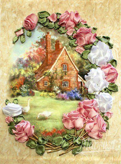 Lovely roses house | Needlepoint Kits