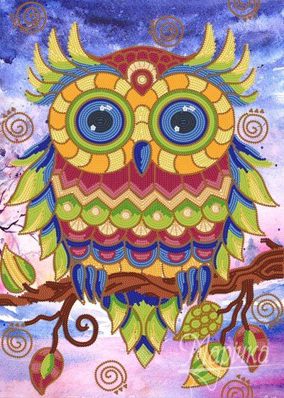 Colored owl | Needlepoint Kits