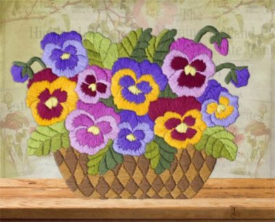 Basket with pansies | Needlepoint Kits