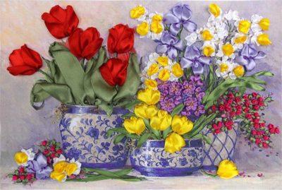 Spring tulips | Needlepoint Kits