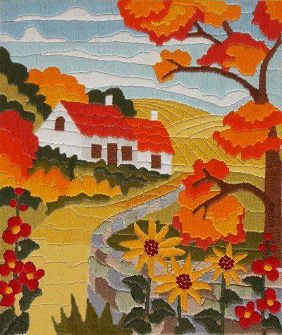 Orange Autumn | Needlepoint Kits