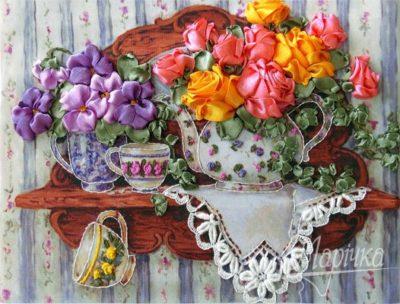 Roses on the shelf | Needlepoint Kits