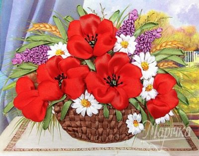 Summer poppy bouquet | Needlepoint Kits