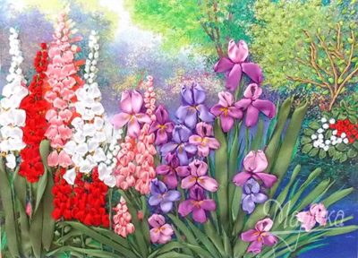 Irises by the pond | Needlepoint Kits