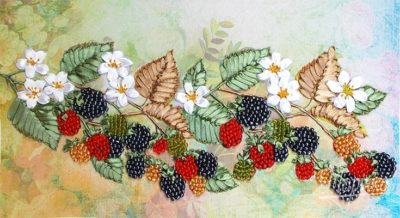 Ripe blackberries | Needlepoint Kits