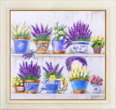 Provence. Shelves with flowers | Needlepoint Kits