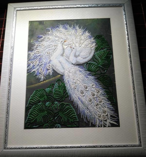 Couple of white peacocks | Needlepoint Kits