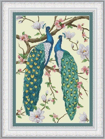 Peacocks and magnolia | Needlepoint Kits