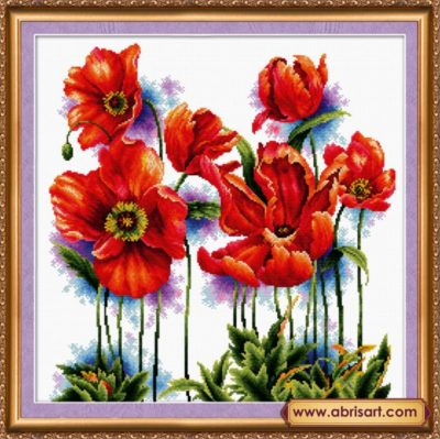 Scarlet poppies | Needlepoint Kits