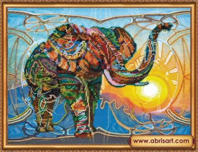 Mosaic elephant | Needlepoint Kits