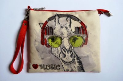 Giraffe music lover clutch | Needlepoint Kits