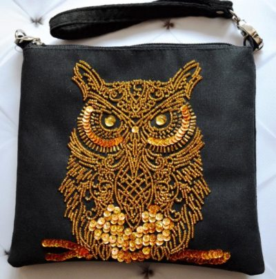 Golden Owl clutch | Needlepoint Kits