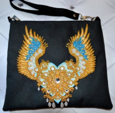 Winged love clutch | Needlepoint Kits