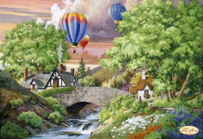 Landscape with balloons | Needlepoint Kits