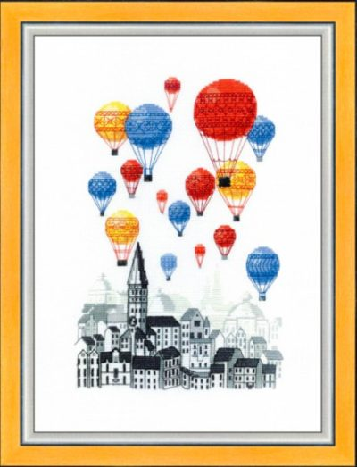 Traveling on the hot air balloons | Needlepoint Kits