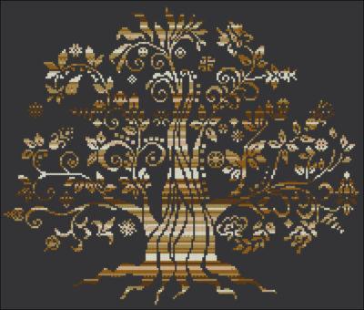 Magic Tree Gold Melange | Needlepoint Kits