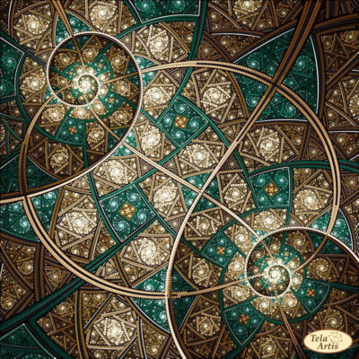 "Fractal ""Flicker of universes"" 