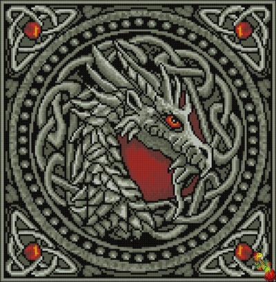Silver dragon | Needlepoint Kits