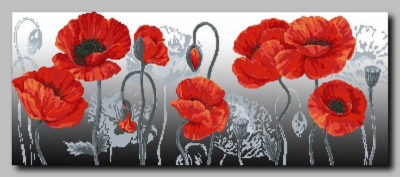Red poppies | Needlepoint Kits