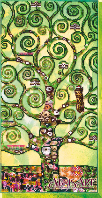 Tree of Life in green (Gustav Klimt variation) | Needlepoint Kits