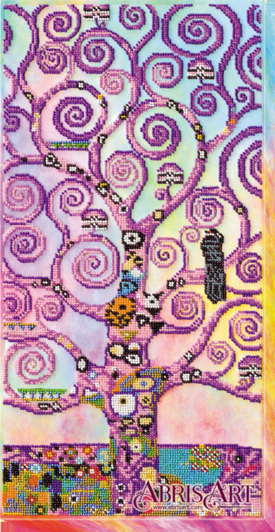 Tree of Life in purple (Gustav Klimt variation) | Needlepoint Kits