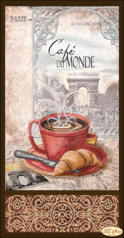 Coffee in Paris with croissant | Needlepoint Kits