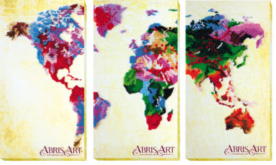 World Map   Needlepoint Kits