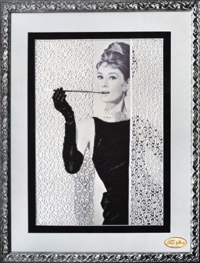 Breakfast at Tiffany's, Portrait of Audrey Hepburn | Needlepoint Kits