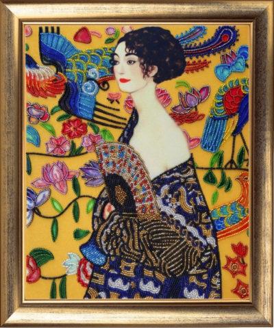 Girl with a fan (by Gustav Klimt) | Needlepoint Kits
