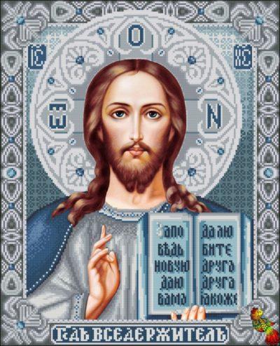 Orthodox icon Jesus Christ (silver) | Needlepoint Kits