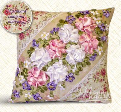 Roses. Pillowcase kit | Needlepoint Kits