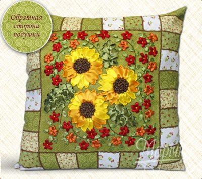 Sunflowers. Pillowcase kit | Needlepoint Kits