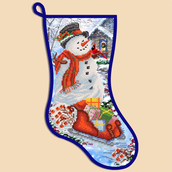 Needlepoint Christmas Stocking Kit.Christmas Stocking Kit Snowman