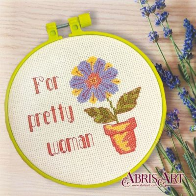 For pretty woman, full cross stitch kit for beginners | Needlepoint Kits