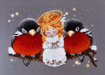 Christmas Angel with birds | Needlepoint Kits