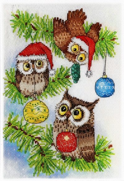 Christmas owls | Needlepoint Kits