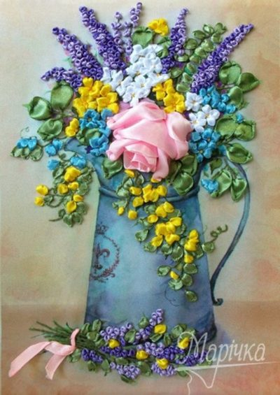Bouquet in a watering-can | Needlepoint Kits