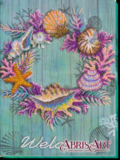 Wreath of shells | Needlepoint Kits