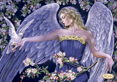 Angel and dove | Needlepoint Kits