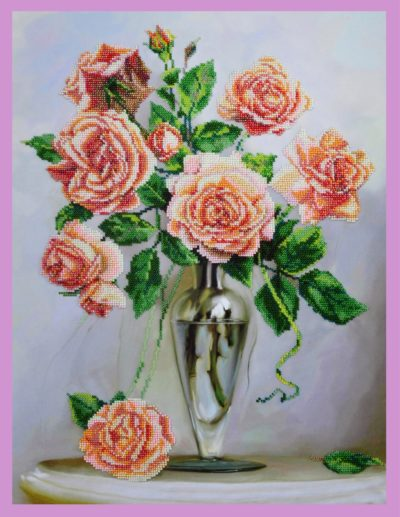 Roses on a marble table | Needlepoint Kits