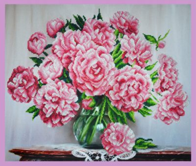 Bouquet of pink peonies | Needlepoint Kits
