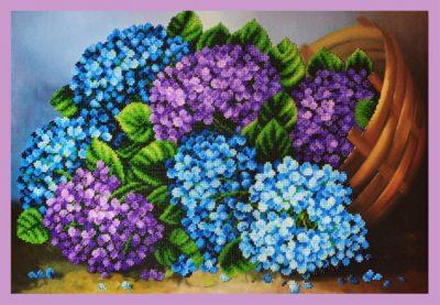 Hydrangeas in the basket | Needlepoint Kits