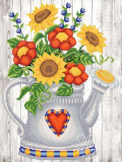 Garden watering can | Needlepoint Kits